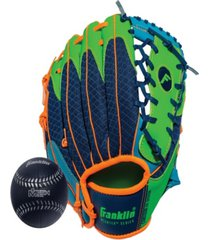 "franklin sports 9.5"" teeball meshtek glove & ball set left handed"
