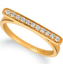 le vian nude diamond horizontal bar statement ring (1/5 ct. t.w.) in 14k gold