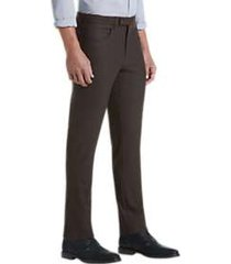 joe joseph abboud dark brown slim fit dress pants