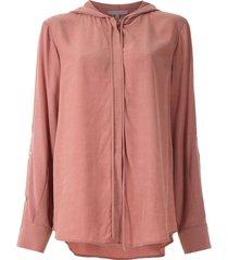 alcaçuz madagascar hooded shirt - pink