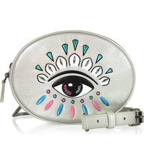 kenzo designer handbags, kontact silver belt bag