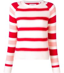 chinti and parker colour-block fitted sweater - white