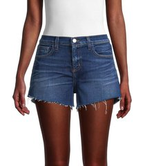 l'agence women's audrey mid-rise denim cutoff shorts - sydney - size 26 (2-4)