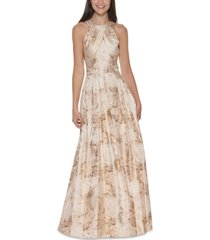eliza j beaded-neck ball gown
