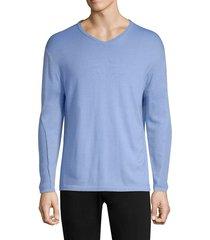 greyson men's guide merino wool-blend pullover sweater - emerald - size xxl