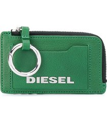 diesel logo plaque card case - green