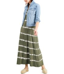 style & co petite tie-dyed maxi dress, created for macy's