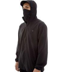 chaqueta antifluido hombre negro color negro, talla l