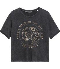 catwalk junkie 2102010211 155 t-shirt wild side dark grey