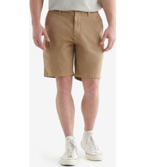 lucky brand men's stretch flat front shorts