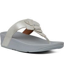 fitflop lottie corsage suede thong sandals women's shoes