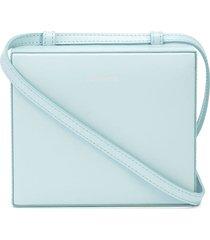 jil sander mini case crossbody bag - blue