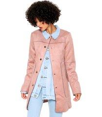 casaco sobretudo facinelli by mooncity bolsos rosa