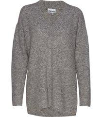 soft wool knit gebreide trui grijs ganni