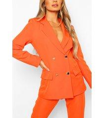 double breasted military blazer, orange