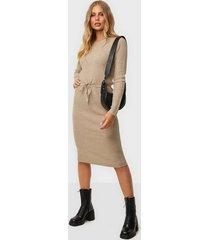 pieces pcsuna ls midi knit dress bc loose fit dresses
