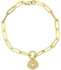 gold star fob clip bracelet