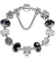 pulsera cuentas cristal murano mujer cadena seguridad 3881