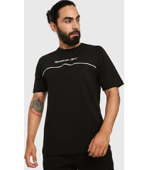 camiseta negro-blanco reebok classics classics linear