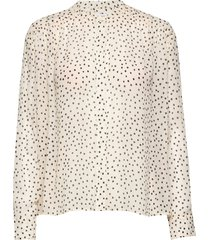 elmy shirt aop 9695 blouse lange mouwen zwart samsøe samsøe