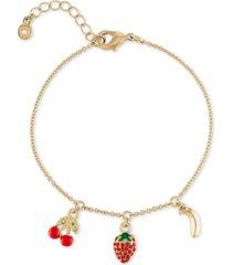 rachel rachel roy gold-tone tropical charm bracelet