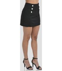 falda talle alto de mujer exotik ew172-1115-776 negro