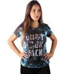 camiseta baby look don't look back tie dye md18
