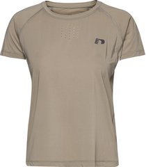 women´s gym tee t-shirts & tops short-sleeved beige newline
