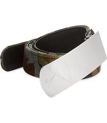 camouflage velvet belt