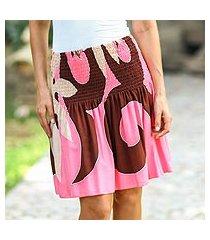 skirt, 'pink summer beauty' (indonesia)