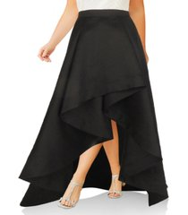 adrianna papell plus size mikado high-low skirt