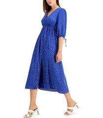 taylor petite v-neck printed maxi dress