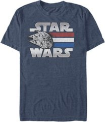 fifth sun men's star wars red white blue stripes falcon short sleeve t-shirt