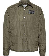 light weight shirt jacket verde calvin klein