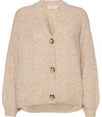 anghacr oz knit cardigan gebreide trui cardigan beige cream