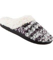 isotoner signature women's sweater chunky knit amanda hoodback slippers