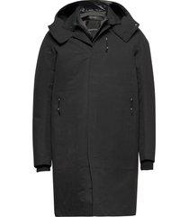 durable microfibre trench coat parka jas zwart krakatau