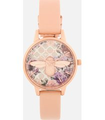 olivia burton women's glasshouse watch - nude peach/rose gold
