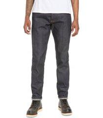 men's naked & famous denim easy guy slim fit jeans, size 34 - blue