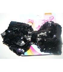 jojo siwa signature large black sequin hair clip bow