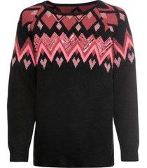 maglione norvegese con paillettes (nero) - bodyflirt