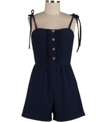 speechless juniors' ruffled eyelet romper