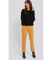 na-kd classic high waist suit trousers - orange