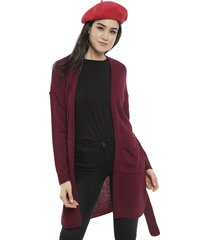 cardigan tricot rojo - calce regular