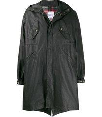 raglan united oversized hooded coat - black