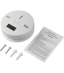 co monóxido de carbono intoxicación sensor de gas advertencia alarma detector probador lcd