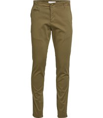 joe slim chino pant - gots/vegan chino broek groen knowledge cotton apparel