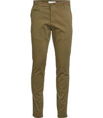 joe slim chino pant - gots/vegan chino broek groen knowledge cotton apparel