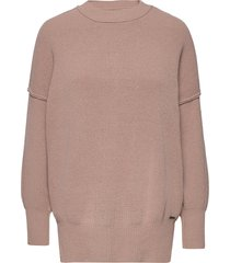 anf womens sweaters stickad tröja rosa abercrombie & fitch