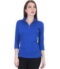 blusa,silueta ajustada azul rey s bocared andrea 2731026